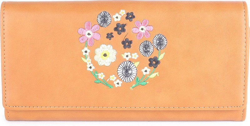 Allen Solly Women Brown Genuine Leather Wallet(15 Card Slots)