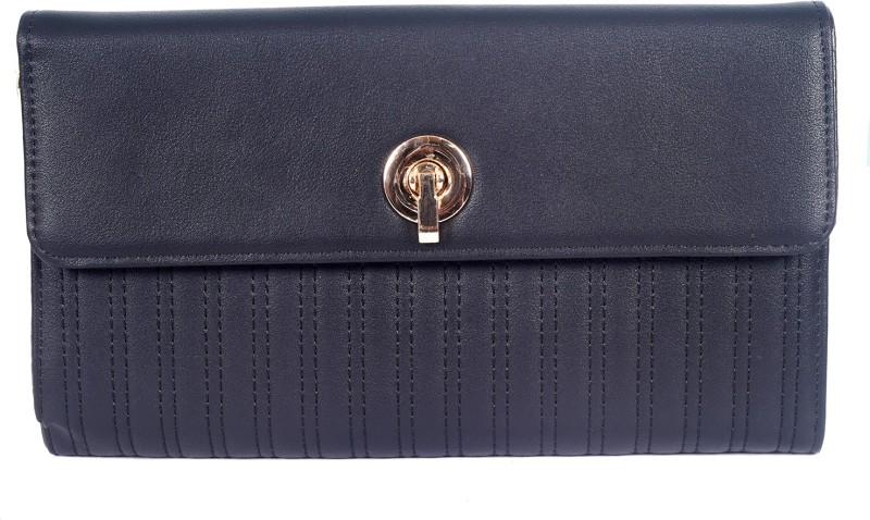 Lino Perros Women Black Artificial Leather Wallet(1 Card Slot)
