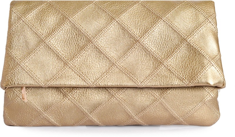 Lino Perros Women Gold Artificial Leather Wallet(1 Card Slot)
