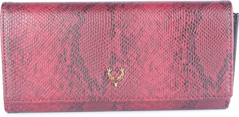Allen Solly Women Maroon Genuine Leather Wallet(15 Card Slots)