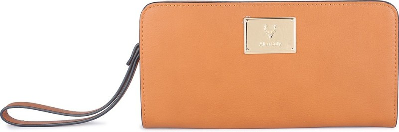 Allen Solly Women Brown Genuine Leather Wallet(15 Card Slots)