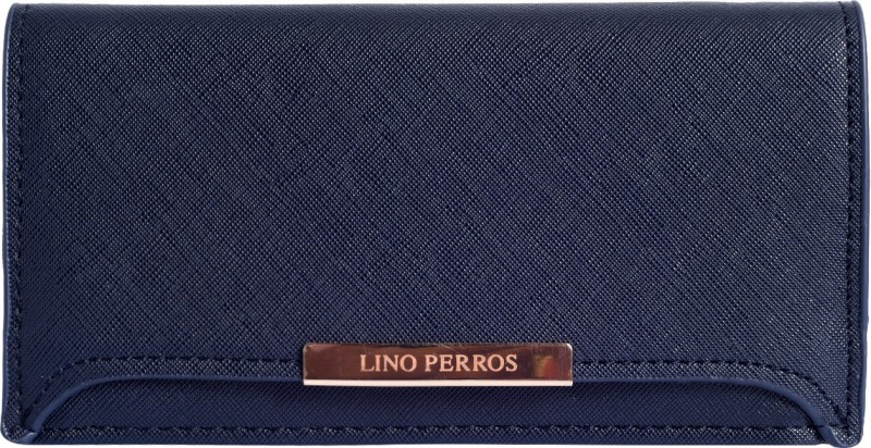 Lino Perros Women Blue Artificial Leather Wallet(1 Card Slot)