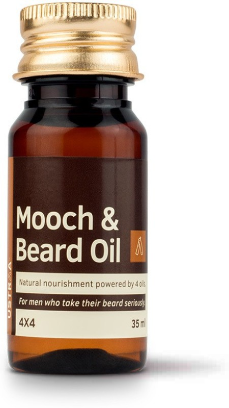 Ustraa Mooch & Beard Oil 4x4 (35 ml) Hair Oil(35 ml)