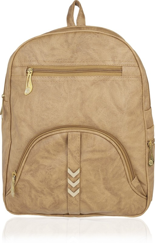 Kleio Elegant Zipper Casual College Bag For Girls / Women 17.67 L Backpack(Beige)