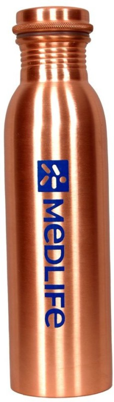 Medlife Pure copper bottle 750 ml Bottle(Pack of 1, Gold)