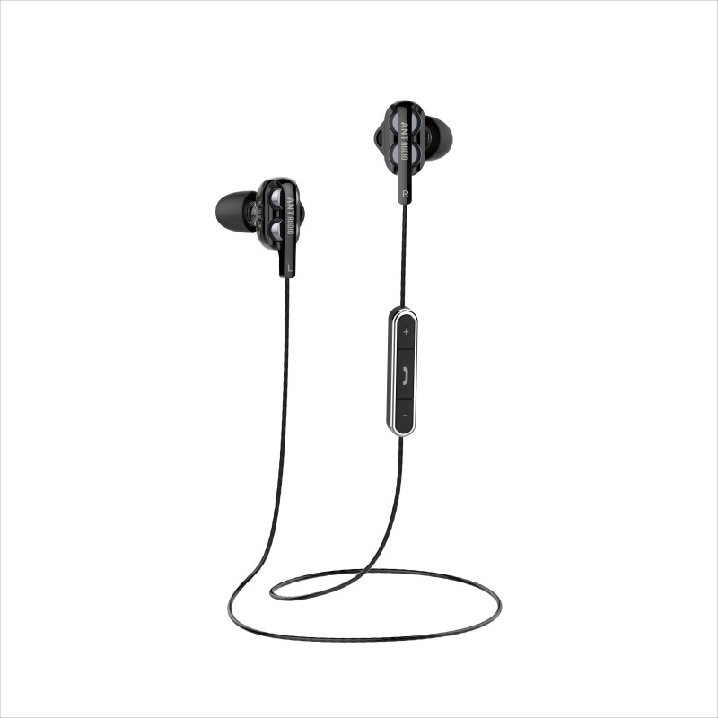 Ant Audio Bluetooth Headset with Mic(Black, In the Ear)