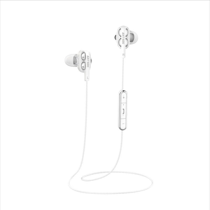 Ant Audio Doble H2 Dual Driver 1 Bluetooth Headset with Mic(White, In the Ear)