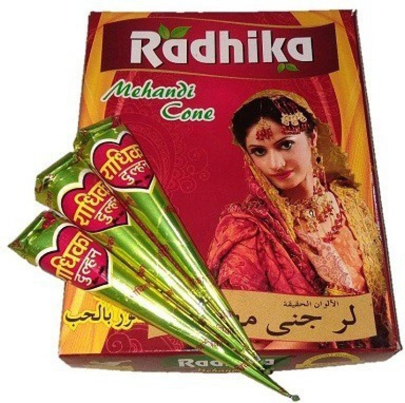 ALI COSMETICS09 RADHIKA001 Natural Mehendi(Pack of 12)