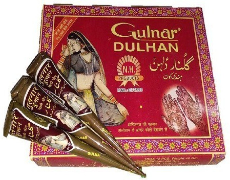 ALI COSMETICS09 Gulnar Dulhan Mehendi Cone (pack of 12) Natural Mehendi(Pack of 12)
