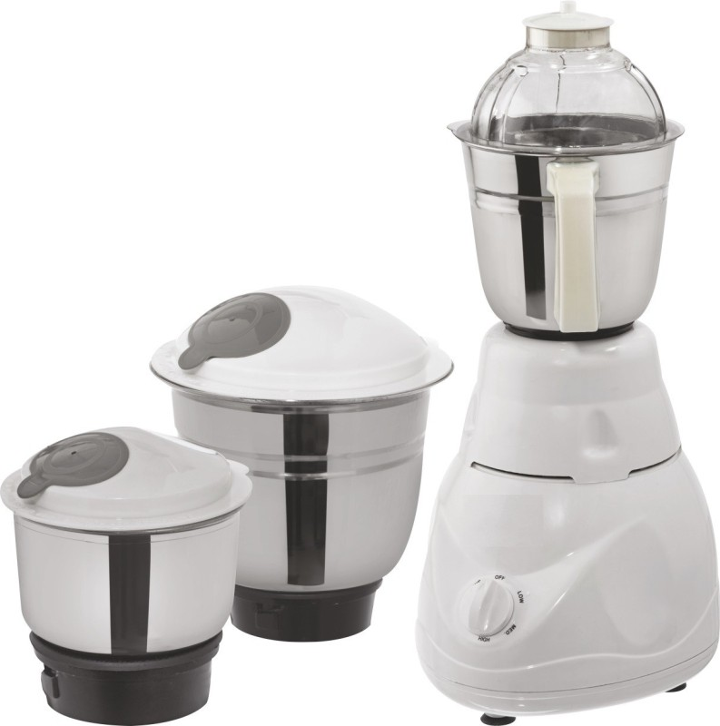 amikan happy home 1 season warranty with 3 jars new stylish design 500 Juicer Mixer Grinder(wihite, 3 Jars)