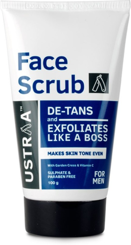 Ustraa Face Scrub De Tan with walnut granules (100g) Scrub(100 g)