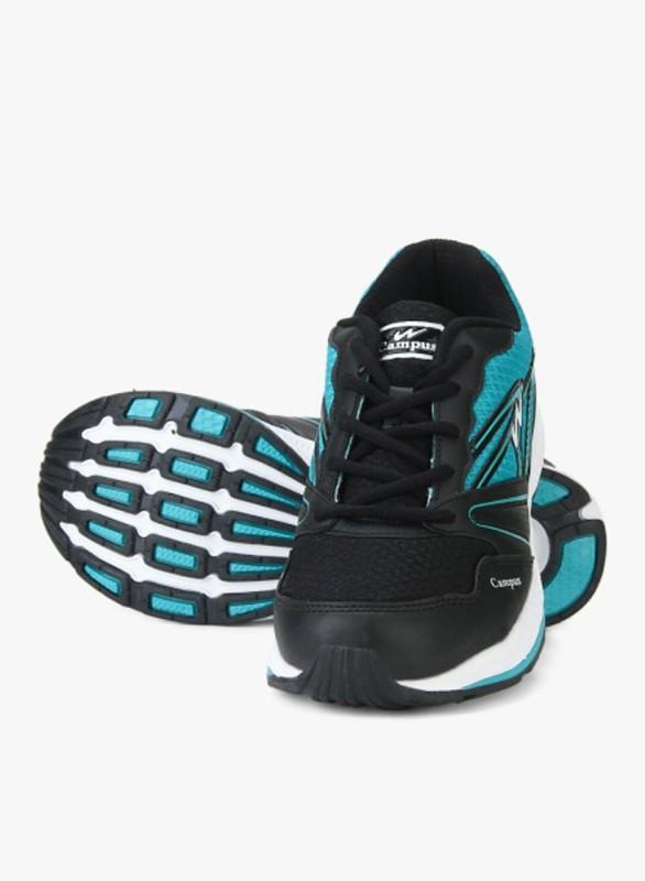 Campus VOLT Running Shoes For Men(Black, Blue)