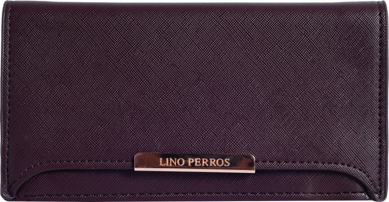 Lino Perros Women Brown Artificial Leather Wallet(1 Card Slot)