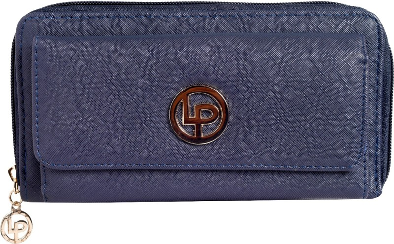Lino Perros Women Blue Artificial Leather Wallet(4 Card Slots)