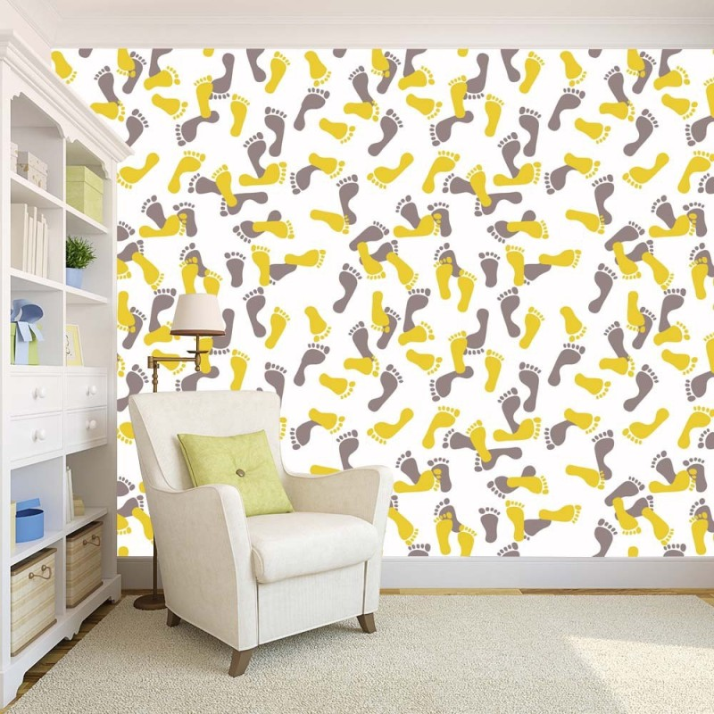 100yellow Decorative Wallpaper(609.6 cm X 121.9 cm)