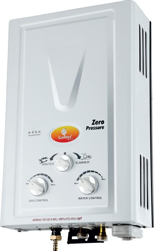 Candes 7 L Gas Water Geyser(Silver White, POPULAR 7 LTR GAS GEYSER)