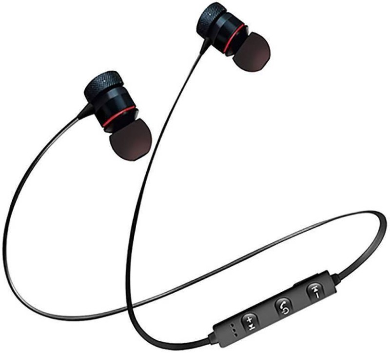 Mobiles' Daddy Magnet Bluetooth Bluetooth Headset with Mic(Black, In the Ear)