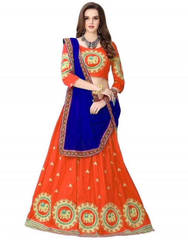 Jadi fashion Self Design Lehenga Choli(Multicolor)