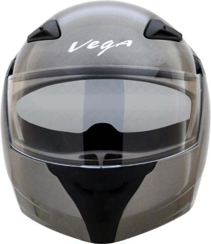 VEGA Boolean Dull Anthracite ( Matt Finish ) Motorbike Helmet(Dull Anthracite)