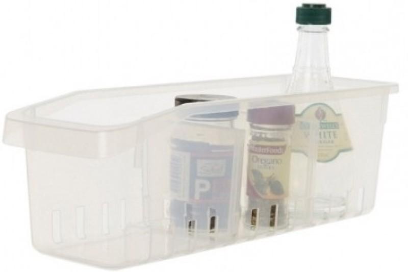 Howards Narrow Pull-Out Organiser Plastic Kitchen Rack(White)