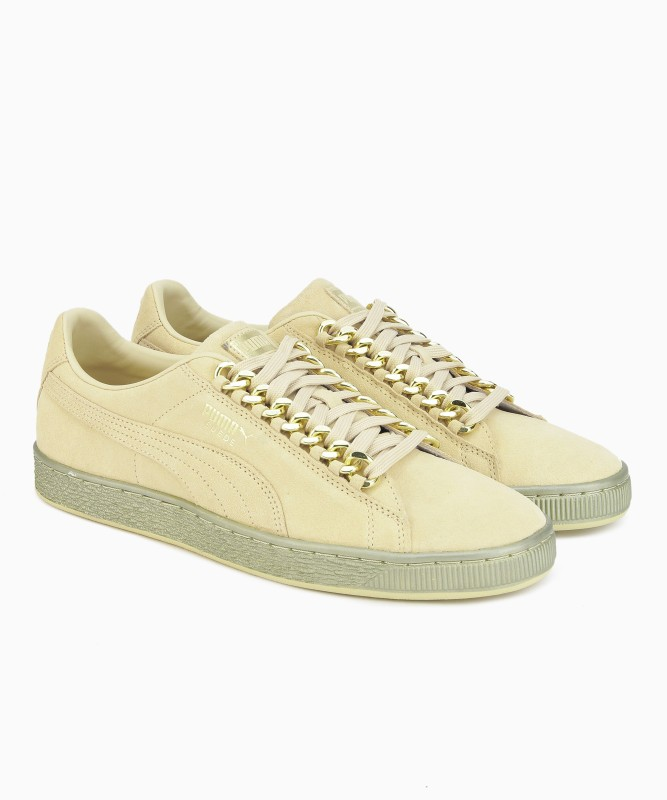 Puma Suede Classic x Chain Sneakers For Men(Beige)