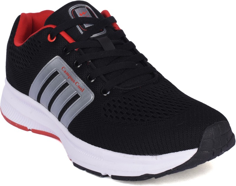 Campus VENTO Walking Shoes For Men(Black, Red)