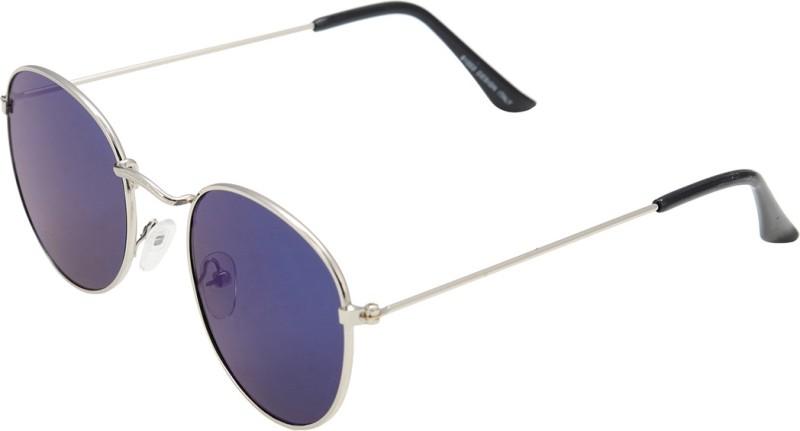 ManpaFashion Round Sunglasses(Blue) image