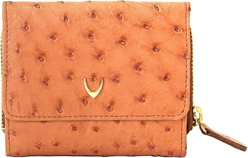 Hidesign Women Evening/Party Tan Genuine Leather Wallet(1 Card Slot)