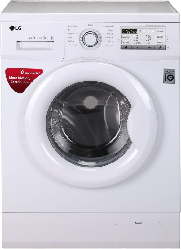 LG 6 kg Fully Automatic Front Load Washing Machine White(FH0H4NDNL02)