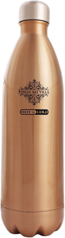IndianArtVilla Steel Insulated Vaccum Bottle 500 ml Bottle(Pack of 1, Brown)