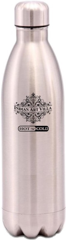 IndianArtVilla Steel Insulated Vaccum Bottle 500 ml Bottle(Pack of 1, Silver)