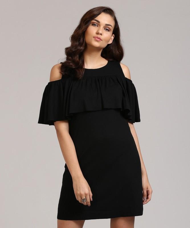 AND Women Sheath Black Dress