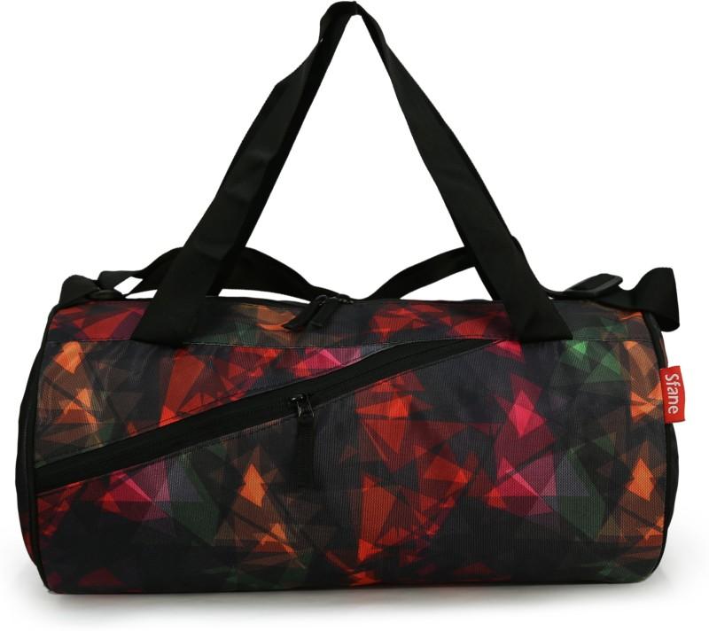 sfane Printed Black Duffel Sports Gym Bags Gym Bag(Grey)