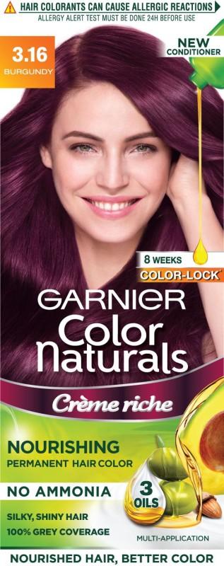 Garnier Color Naturals, Shade 3.16 Hair Color(Burgundy)