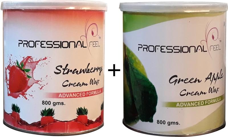 Professional strawberry cream wax + green apple wax (Combo) advance formula Wax (800 g + 800 g) Pack of 2 Wax(800 g)