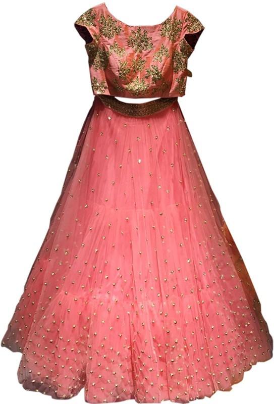 fotoablearc Embroidered Lehenga Choli(Multicolor)