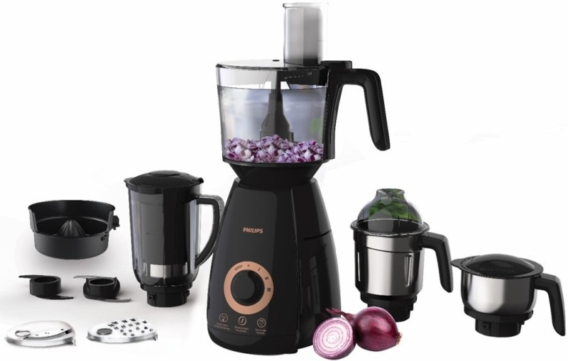 Philips Avance Collection HL7707 750 Mixer Grinder(Black, 4 Jars)