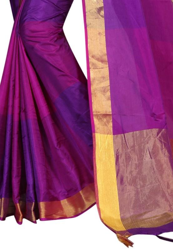 HashTag Fashion Woven Banarasi Poly Silk, Cotton, Cotton Silk Saree(Multicolor)