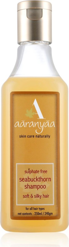 Aaranyaa Sulphate free Seabuckthorn shampoo with Amino Fruit Extract Brahmi Ashwagandha Reetha for Damage Protection(250 ml)