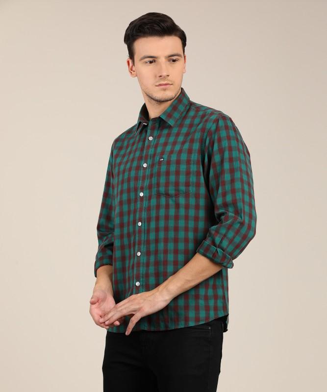 Arrow Sport Men Checkered Casual Green Shirt