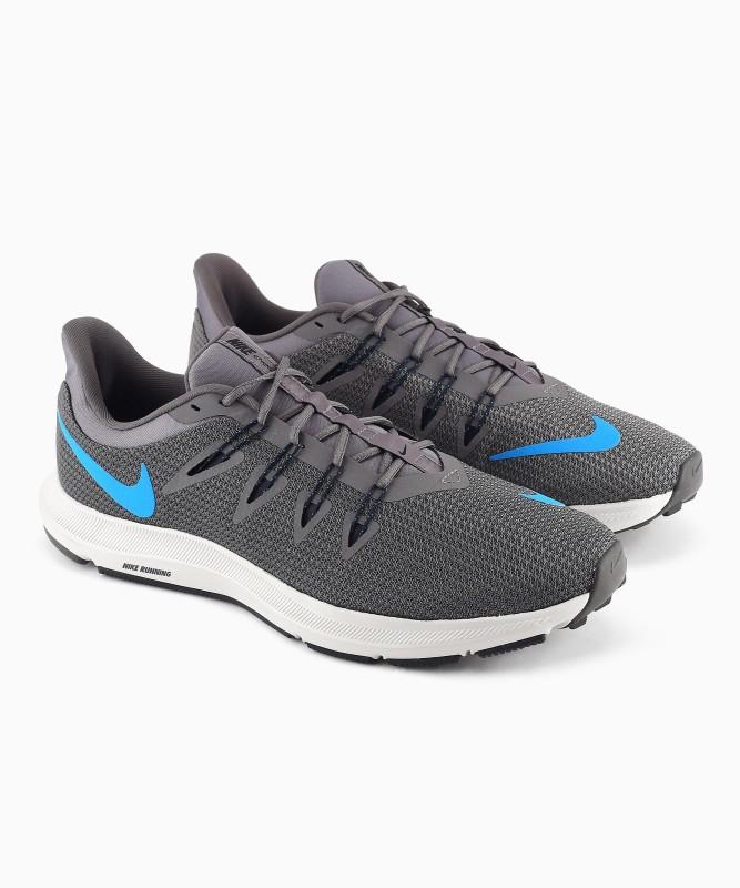 Nike NIKE QUEST 1.5 Walking Shoes For Men(Grey, Blue)