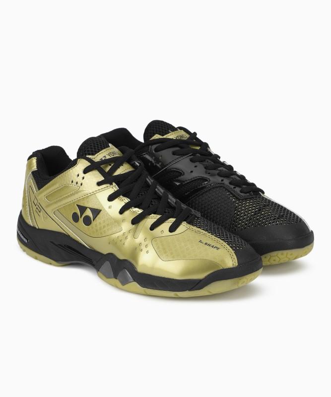 Yonex Badminton Shoes For Men(Gold, Black)