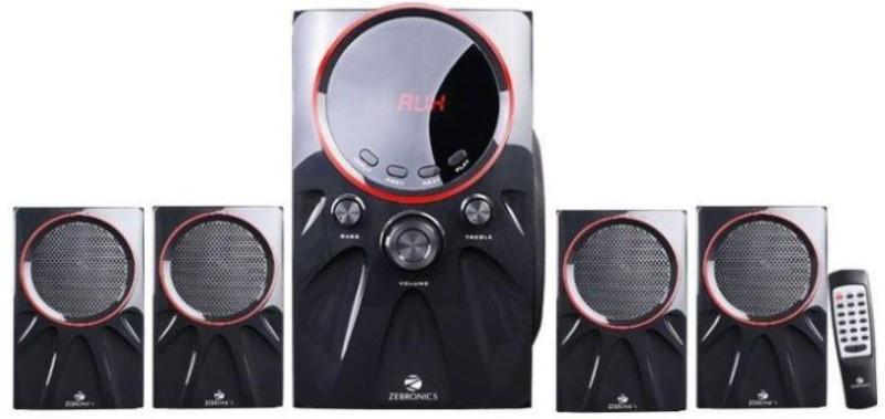 Zebronics Punk 4.1 Bluetooth Speaker W 60 W Bluetooth Home Theatre(Black, 4.1 Channel)