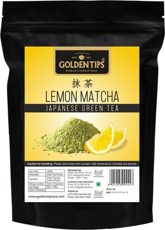 Golden Tips Lemon Matcha Japanese Green Tea Lemon Matcha Tea(50 g, Pouch)