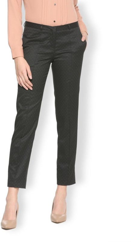 Van Heusen Regular Fit Women Black Trousers