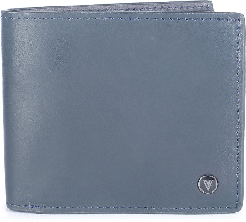 Van Heusen Men Blue Genuine Leather Wallet(8 Card Slots)