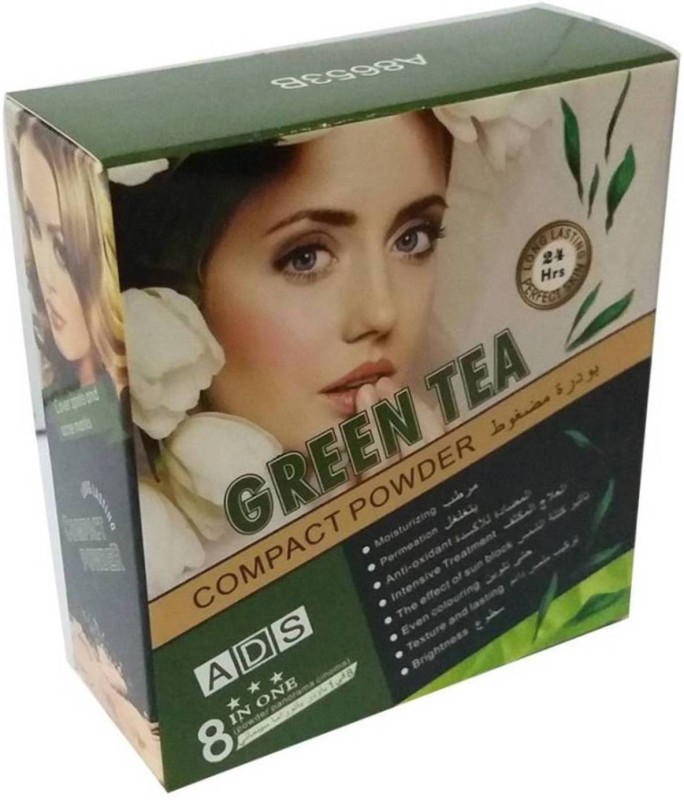 ADS Best Organic Enriched with Green tea extract compact powder & concealer ( 5 Powder pad) / Compact(Beige)