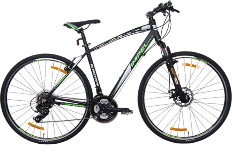 Kross X-Urb Front Suspension Disc Brake Bike For Adults Black & Green 26 T 21 Gear Mountain/Hardtail Cycle(Multicolor)