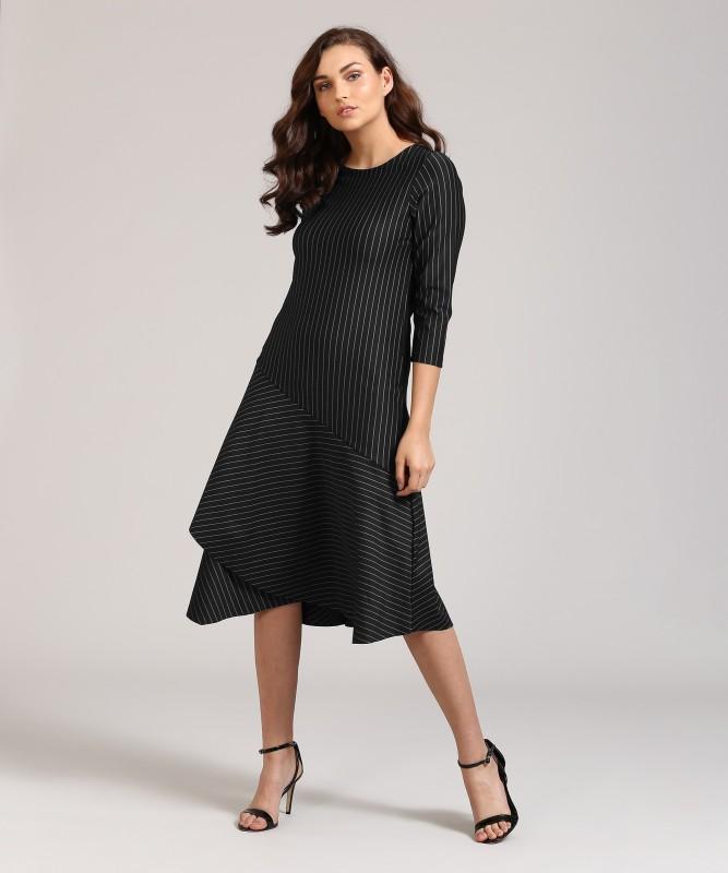 AND Women Layered Black Dress