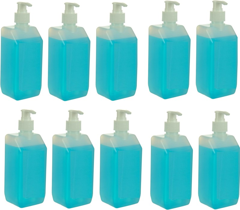 3S Best quality Hand Sanitizer 500ML For Home & Hospital Use Pack of 10 Pump Dispenser(10 x 50 ml)